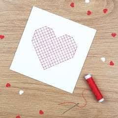 Sewn Heart Card