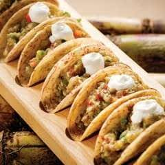 Malanga Tacos Stuffed With Eggplant
