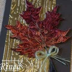 Quilled Multi Color Foiled Maple Leaf