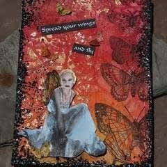 Spread Your Wings Mixed Media Canvas