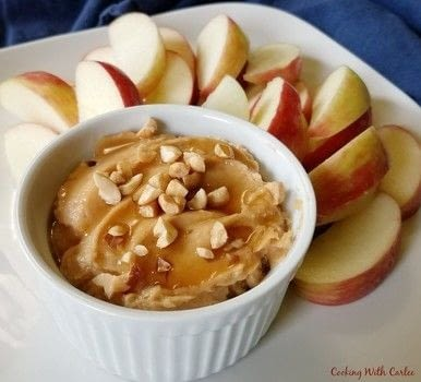 Peanut Butter Fruit Dip Recipe .  Free tutorial with pictures on how to make a sweet sauce in under 5 minutes by cooking with peanut butter, vanilla, and honey. Recipe posted by Carlee S.  in the Recipes section Difficulty: Easy. Cost: Cheap. Steps: 3