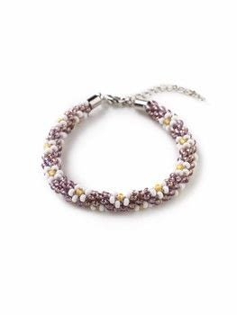 A Beginner's Guide to Kumihimo .  Free tutorial with pictures on how to bead a woven bead bracelet in under 45 minutes by beading and jewelrymaking with kumihimo disc, cord, and seed beads. How To posted by Search Press.  in the Jewelry section Difficulty: Simple. Cost: Cheap. Steps: 6
