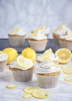 Lemon and Poppy seed Cupcakes .  Free tutorial with pictures on how to bake a lemon cupcake in under 60 minutes by baking with almond milk, apple cider vinegar, and vanilla extract. Inspired by vegetarian, vegan, and dairy free. Recipe posted by natalie p.  in the Recipes section Difficulty: Easy. Cost: 3/5. Steps: 10