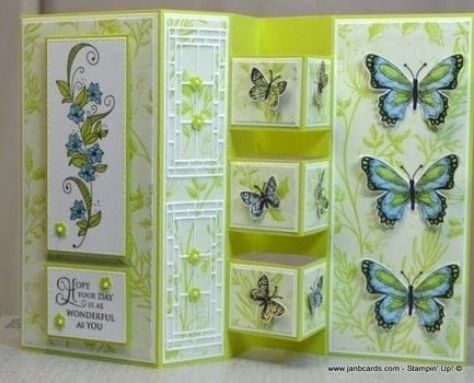 Make this stunning 3D card that folds to fit into a regular UK A6 envelope. .  Free tutorial with pictures on how to make a greetings card in under 90 minutes by papercrafting and cardmaking with card. How To posted by Jan B.  in the Papercraft section Difficulty: Simple. Cost: 3/5. Steps: 1