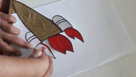 DIY Name Rocket for Pre-schoolers and Toddlers  .  Cut a piece of papercutting in under 30 minutes using scissors, rocket, and printer. Inspired by craftroom. Creation posted by Cubsta.  in the Other section Difficulty: Easy. Cost: No cost.
