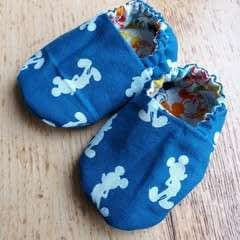 Reversible Fabric Baby Shoes