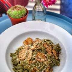 Garlic & Miso Mushroom Tagliatelle