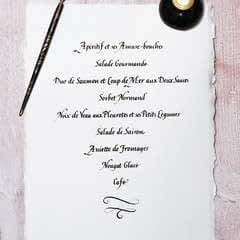 A Celebration Menu In French Lettering