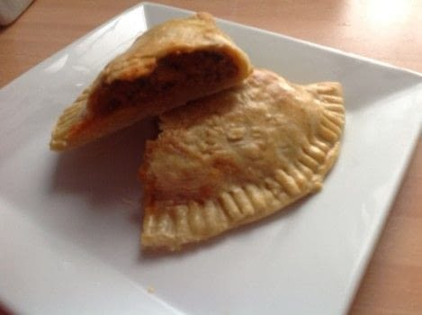 Beef Empanadas  .  Free tutorial with pictures on how to cook a beef dish in under 60 minutes by cooking and baking with plain flour, salt, and butter. Recipe posted by Super Madcow.  in the Recipes section Difficulty: Easy. Cost: Cheap. Steps: 13