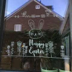 Easter window drawing
