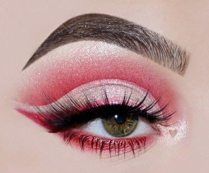 red cut crease tutorial · how to create a cut crease eye