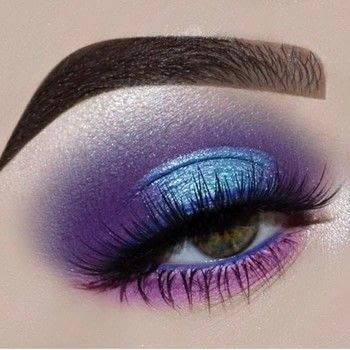 Create a Perfect Purple Halo Eye .  Free tutorial with pictures on how to create a two toned eye makeup look in under 30 minutes by applying makeup with eyeshadow, eyeshadow, and eyeshadow. Inspired by blue and purple. How To posted by Hayley N.  in the Beauty section Difficulty: Simple. Cost: 3/5. Steps: 7