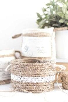 Store all of your bits and bobs! .  Free tutorial with pictures on how to make a rope basket in under 60 minutes using sash, hot glue gun, and scissors. Inspired by organization and homeware. How To posted by Temperance Rose.  in the Home + DIY section Difficulty: Simple. Cost: No cost. Steps: 7