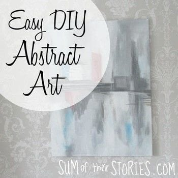 It's easy to make your own abstract art using simple materials .  Free tutorial with pictures on how to create a piece of abstract or patterned art in 5 steps by creating with paint, canvas, and paintbrushes. Inspired by abstract. How To posted by Julie from Sum of their Stories.  in the Art section Difficulty: 3/5. Cost: Cheap.