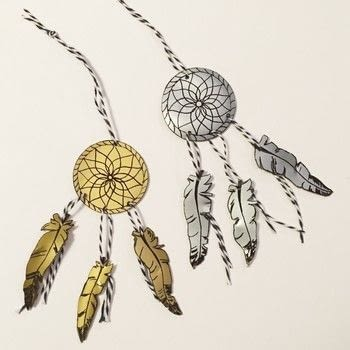 Dreamcatcher .  Free tutorial with pictures on how to make a piece of paper art in under 180 minutes Inspired by dreamcatchers. How To posted by Vaessen Creative.  in the Papercraft section Difficulty: Simple. Cost: Absolutley free. Steps: 5