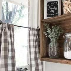 Quick & Easy No Sew Cafe Curtains