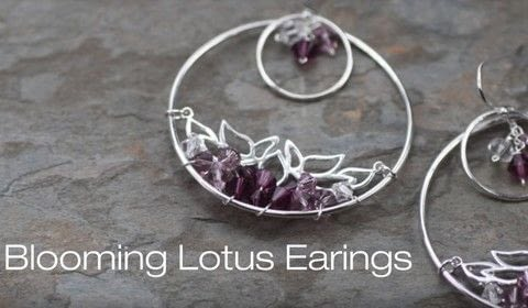 How to make our Blooming Lotus Earrings .  Free tutorial with pictures on how to make a pair of hoop earrings in under 50 minutes by jewelrymaking with beads and wire. How To posted by Lori F.  in the Jewelry section Difficulty: Simple. Cost: 3/5. Steps: 1