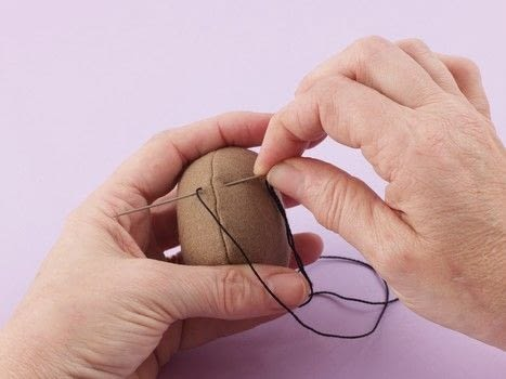 How to Sew Little Felt Animals .  Free tutorial with pictures on how to stitch  in under 5 minutes by sewing and hand sewing with needle and thread. How To posted by Search Press.  in the Sewing section Difficulty: Simple. Cost: Cheap. Steps: 8