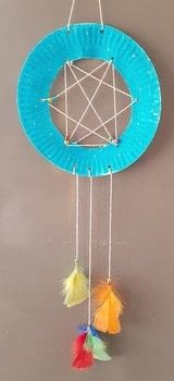 Turn a paper plate into a Children's Dream Catcher .  Free tutorial with pictures on how to make a dream catcher in under 15 minutes by papercrafting with paper plate, string, and hole punch. How To posted by Emily B.  in the Decorating section Difficulty: Simple. Cost: Absolutley free. Steps: 8