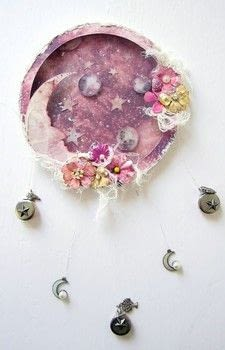 Altered Hoop with Moon Child Collection .  Free tutorial with pictures on how to make a piece of assemblage art in under 60 minutes by creating with paper, ephemera, and embellishments. How To posted by Keren .  in the Art section Difficulty: Simple. Cost: 3/5. Steps: 1