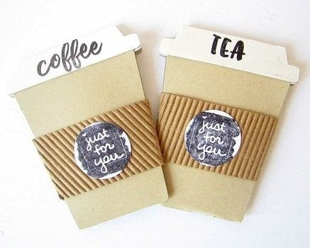 Coffe/Tea Cup Shaped Cards | Perfect to hold a gift card .  Free tutorial with pictures on how to make a greetings card in under 60 minutes by papercrafting and cardmaking with dies, stampers, and ink pads. Inspired by coffee. How To posted by Keren .  in the Papercraft section Difficulty: Simple. Cost: Cheap. Steps: 1