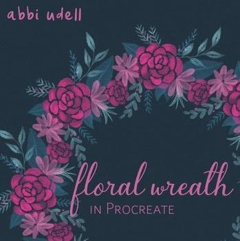 How to create a floral wreath using the Procreate app .  Free tutorial with pictures on how to make a digital artwork in under 30 minutes by creating, drawing, and creating with procreate, ipad, and apple pencil. Inspired by flowers and floral. How To posted by Abbi Laura.  in the Art section Difficulty: Simple. Cost: Absolutley free. Steps: 7