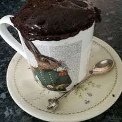 Chocolate Courgette Mug Cake
