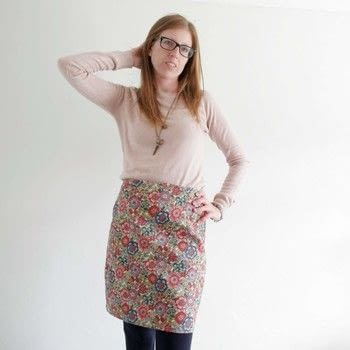 Self drafted pencil skirt .  Free tutorial with pictures on how to sew a hand sewn skirt in 5 steps by dressmaking and sewing with fabrics and threads. How To posted by Surf jewels.  in the Sewing section Difficulty: 4/5. Cost: 3/5.