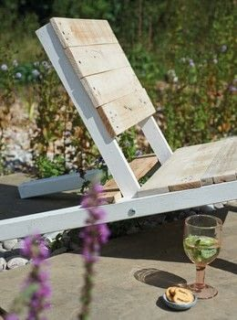 Pallet Wood Projects for Outdoor Spaces .  Free tutorial with pictures on how to make a chair in 9 steps by woodworking with wood, wood, and pallet. How To posted by Ryland Peters & Small.  in the Home + DIY section Difficulty: 3/5. Cost: 3/5.