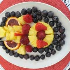 Spring Fruit Platter and Fruit Salad