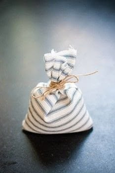 DIY Scented Rice Sachets .  Free tutorial with pictures on how to make a scent pouches in under 45 minutes using fabric, scissors, and rice. How To posted by Decor Hint.  in the Sewing section Difficulty: Simple. Cost: Cheap. Steps: 3