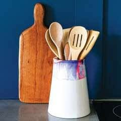 Marble Dipped Utensil Holder