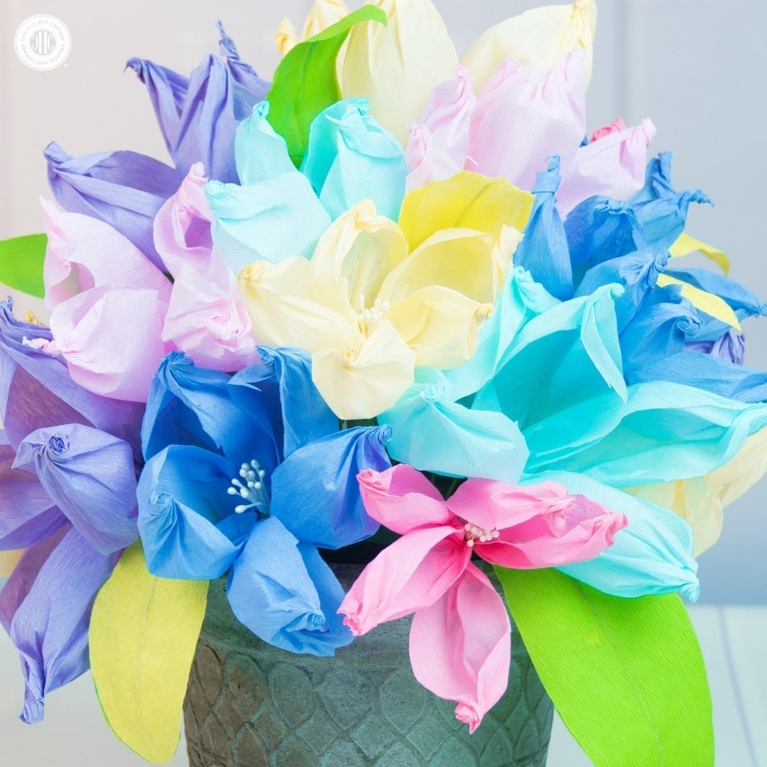 Easy Crepe Paper Flowers How To Make A Paper Flower Papercraft