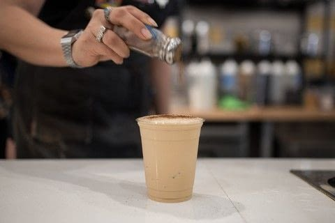 Learn how-to make an Ice Capp with Boomtown Coffee in Houston, Texas .  Free tutorial with pictures on how to make an iced coffee in under 5 minutes by mixing drinks with half and half, simple syrup, and espresso. Recipe posted by A Bite To Eat.  in the Recipes section Difficulty: Simple. Cost: Cheap. Steps: 1