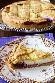 CROSTATA RICOTTA E MARMELLATA DI VISCIOLE (RICOTTA AND SOUR CHERRY CROSTATA) .  Free tutorial with pictures on how to bake a berry pie in under 60 minutes by cooking and baking with flour, salt, and sugar. Recipe posted by Nicoletta & Loreto.  in the Recipes section Difficulty: Simple. Cost: Cheap. Steps: 3