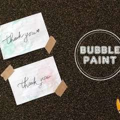 Bubble Painting Cards