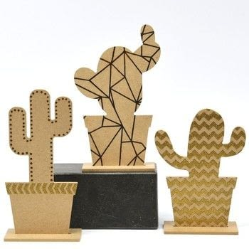 Geometric cactus trio .  Free tutorial with pictures on how to make a piece of paper art in under 180 minutes Inspired by crafts. How To posted by Vaessen Creative.  in the Papercraft section Difficulty: Easy. Cost: Absolutley free. Steps: 6