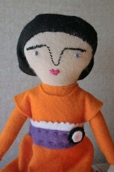 Mimi kirchner doll .  Make a rag dolls / a person plushie by needleworking, embroidering, and sewing with felt. Inspired by dolls. Creation posted by js-m crafts.  in the Needlework section Difficulty: Easy. Cost: 3/5.