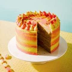 Rhubarb X Custard Cake