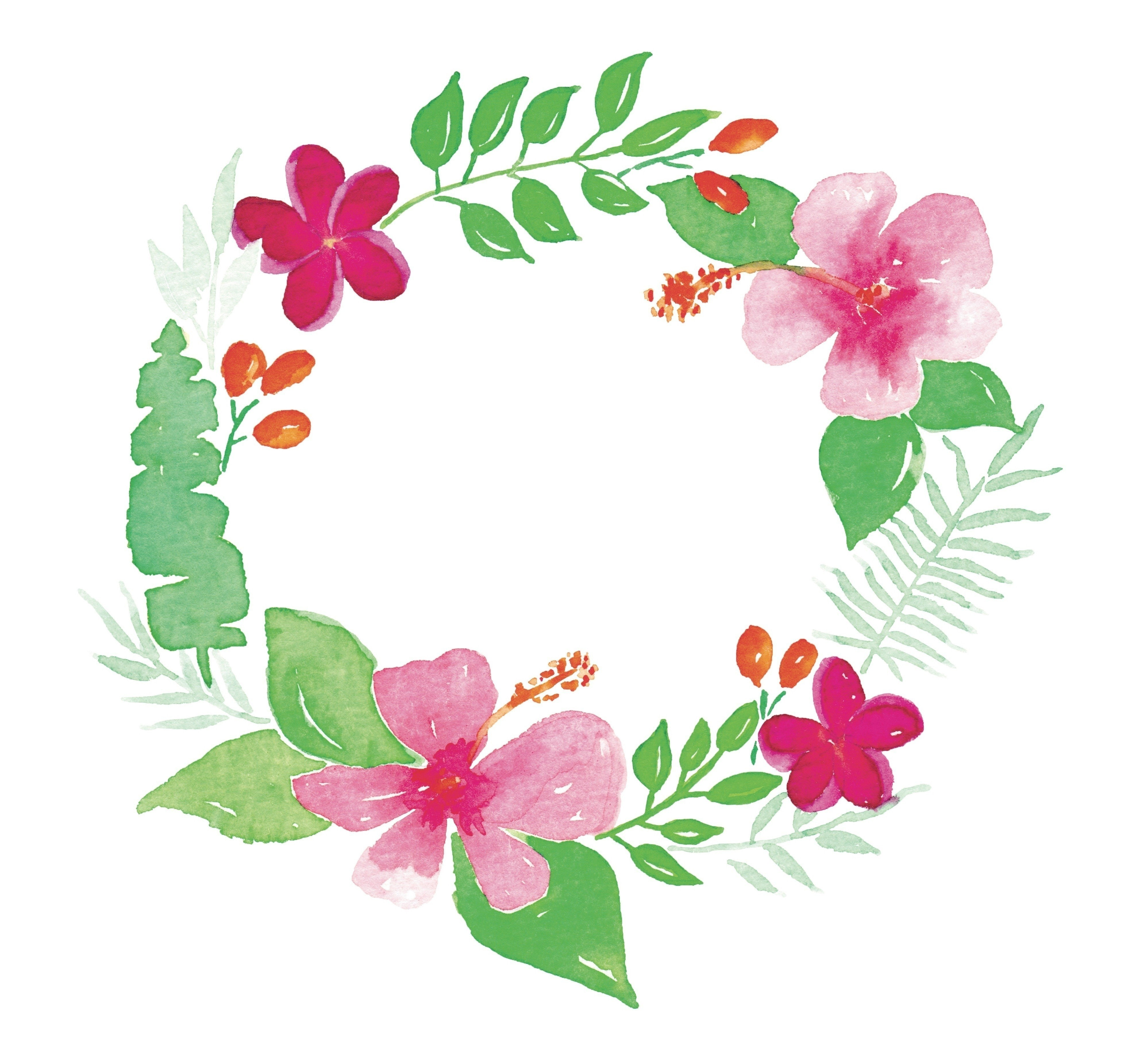 Tropical Wreath Watercolour Extract From Watercolour With Love By Lena Yokota Barth How To Paint A Piece Of Watercolor Art
