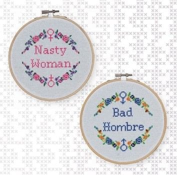 Feminist Cross-Stitch .  Free tutorial with pictures on how to cross stitch art in 2 steps by cross stitching with needle, embroidery flosses, and cross stitch fabric. Inspired by feminism. How To posted by GMC Group.  in the Needlework section Difficulty: Simple. Cost: Cheap.