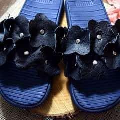 Diy Flower Embellished Slide Sandals
