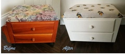 Give dated furniture a new lease of life! .  Free tutorial with pictures on how to make a stool in under 180 minutes by constructing, decorating, and upholstering with chalk paint, stool, and fabric. Inspired by country, vintage & retro, and bees. How To posted by Libby W.  in the Decorating section Difficulty: Simple. Cost: 3/5. Steps: 10