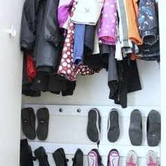 Entry Closet Shoe Hooks