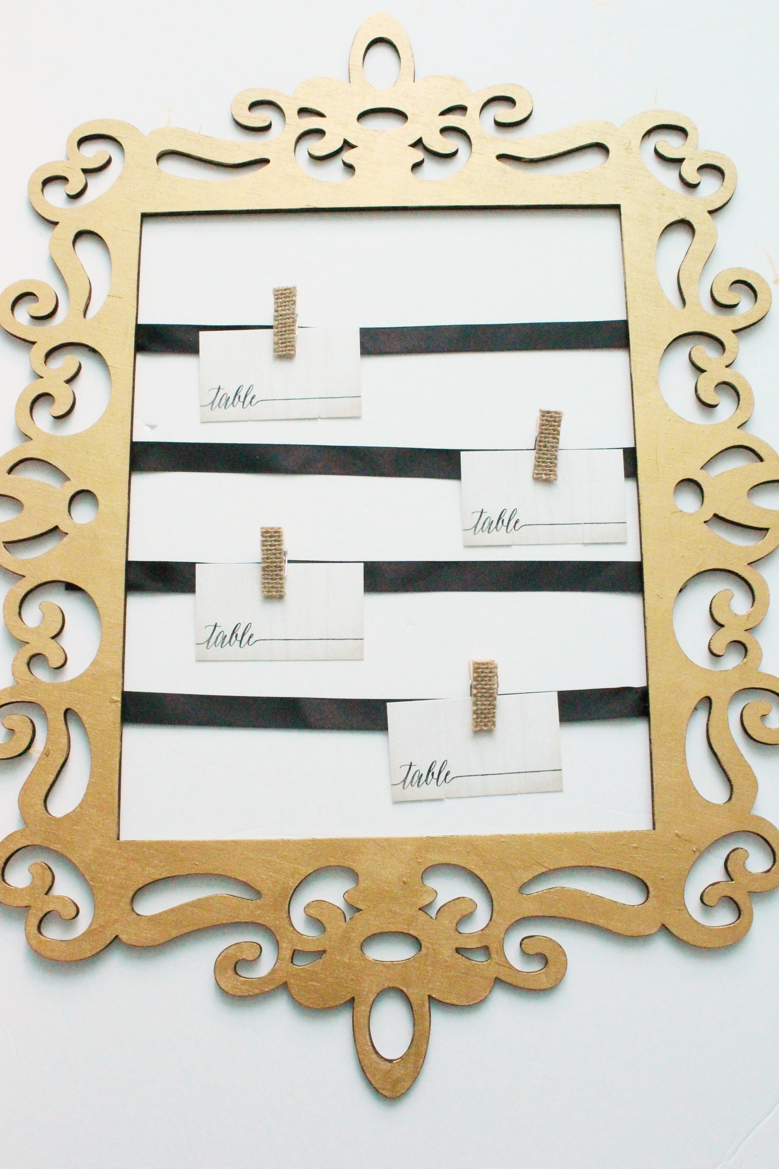 How To Create An Elegant Place Card Display Make A Framed