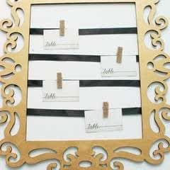 How To Create An Elegant Place Card Display