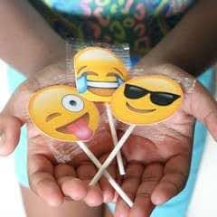 Emoji Lollipop Labels