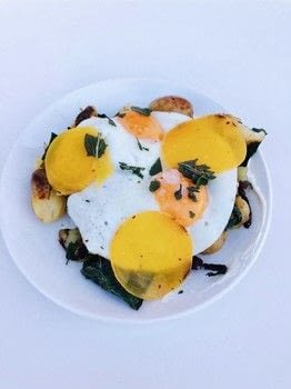 Learn how-to cook Autumn Hash with Louie Louie in London .  Free tutorial with pictures on how to cook a hashbrown in under 35 minutes by cooking with pumpkin, potatoes, and kale. Recipe posted by A Bite To Eat.  in the Recipes section Difficulty: Simple. Cost: Cheap. Steps: 3