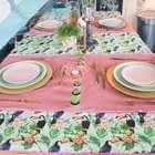 Pink & Green Tropical Tablecloth