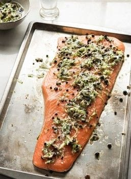 The Flexible Pescatarian .  Free tutorial with pictures on how to cook a salmon dish in under 20 minutes by cooking with salmon, cucumber, and juniper. Recipe posted by Creative Publishing international.  in the Recipes section Difficulty: Simple. Cost: Cheap. Steps: 8